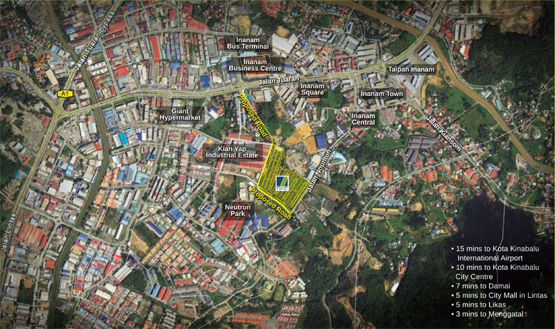 inanam-location-map